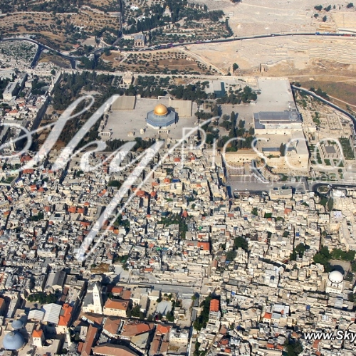 Jerusalem, The Old city from Above
