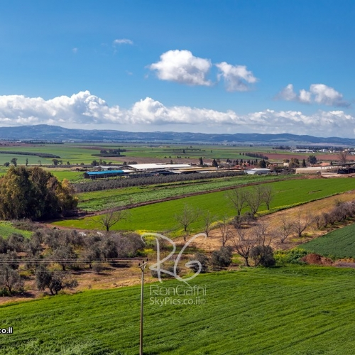 Jezreel Valley, an Israeli aerial view