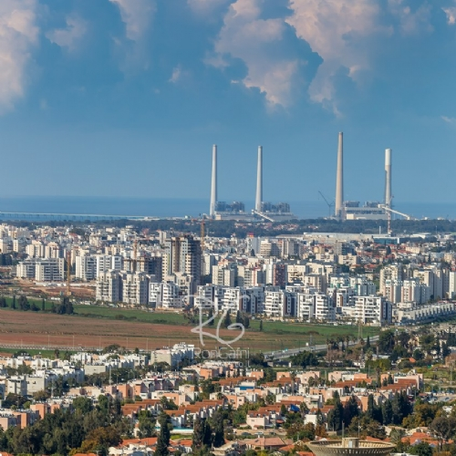 Hadera, Israel from Above
